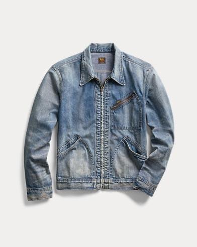 Denim Zip-Front Jacket
