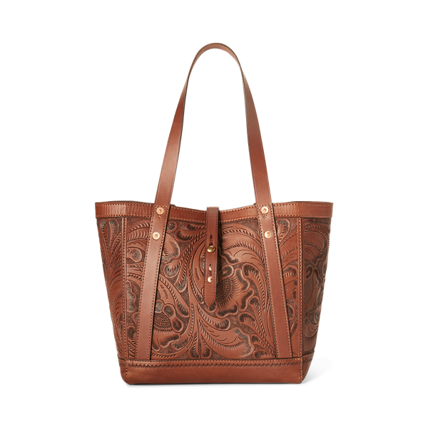 Hand-Tooled Leather Tote