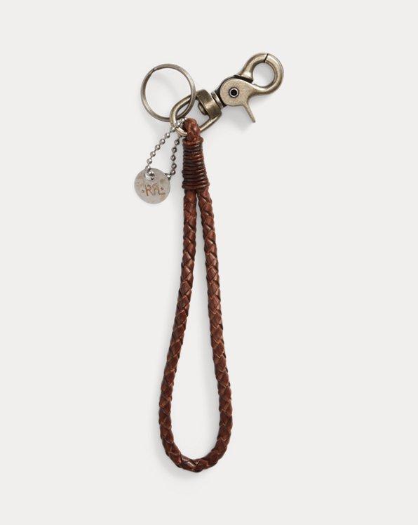 Porte-clé en cuir tressé