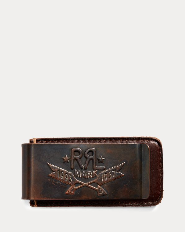 Tooled-Leather Money Clip