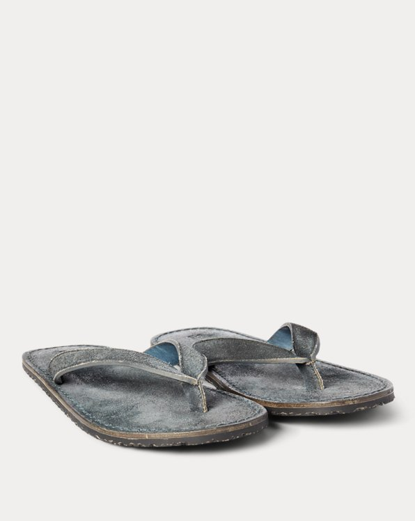 Indigo Suede Flip-Flop Sandal
