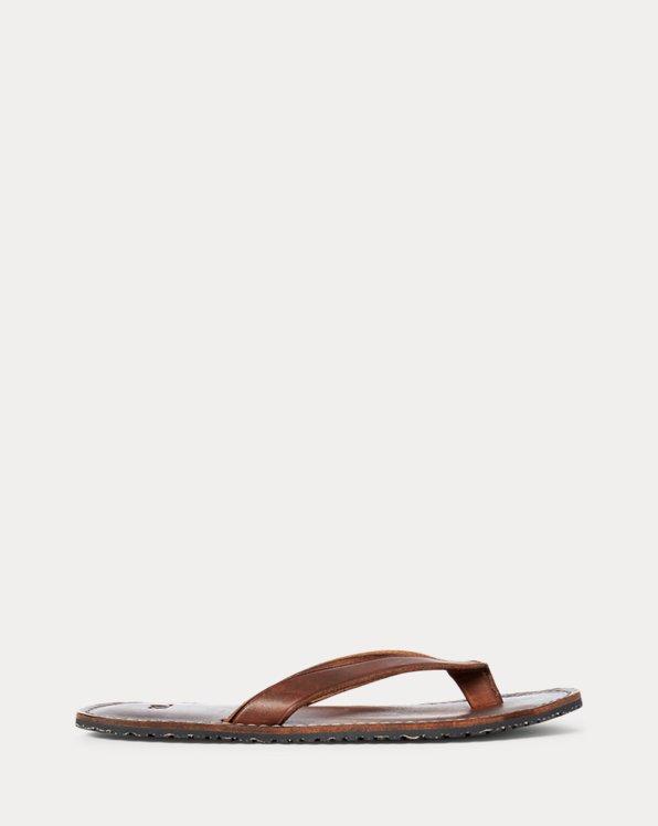 Sandales tongs en cuir
