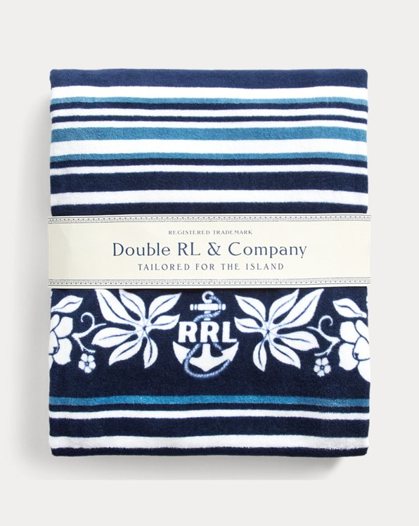 Indigo Striped Beach Towel