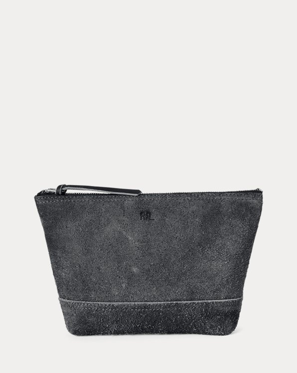 Indigo Roughout Suede Pouch