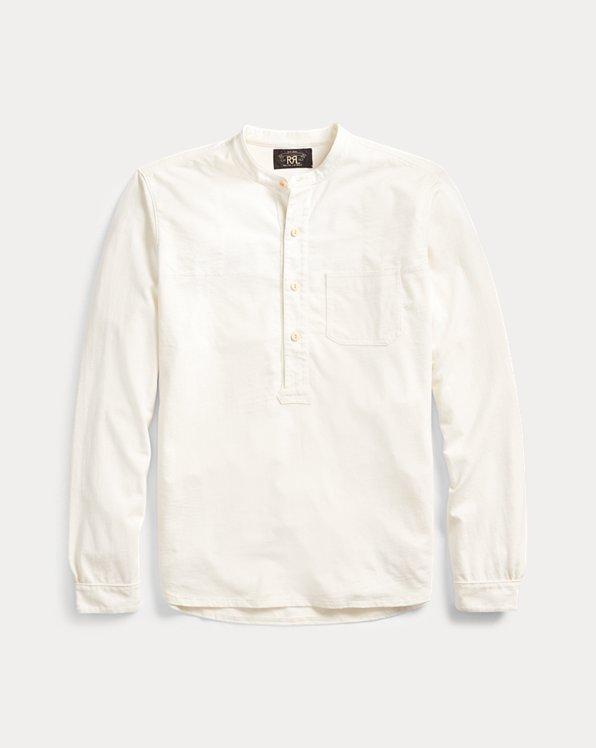 Jersey Band-Collar Shirt