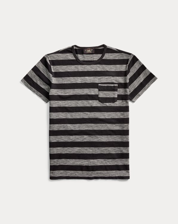 Striped Jersey Pocket T-Shirt