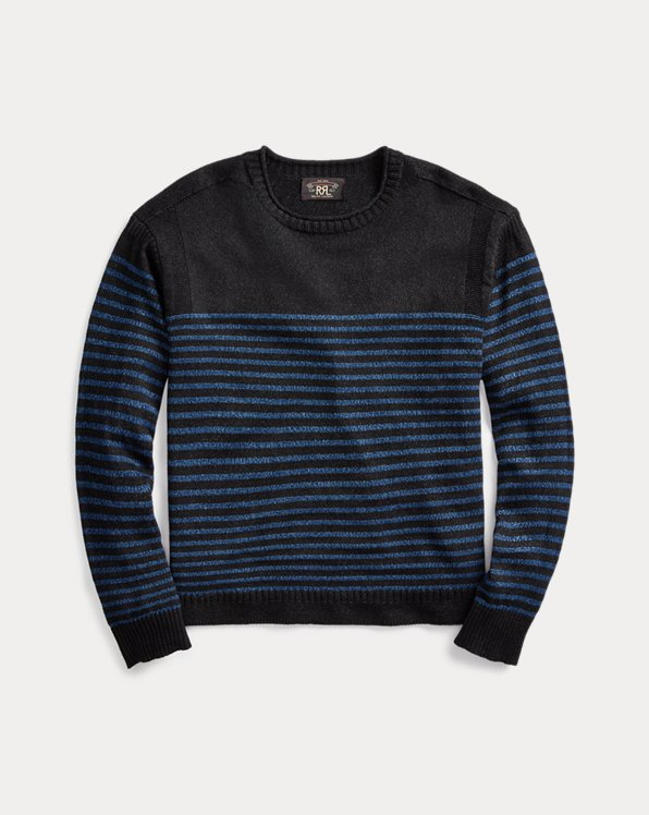 Indigo Linen-Cotton Jumper