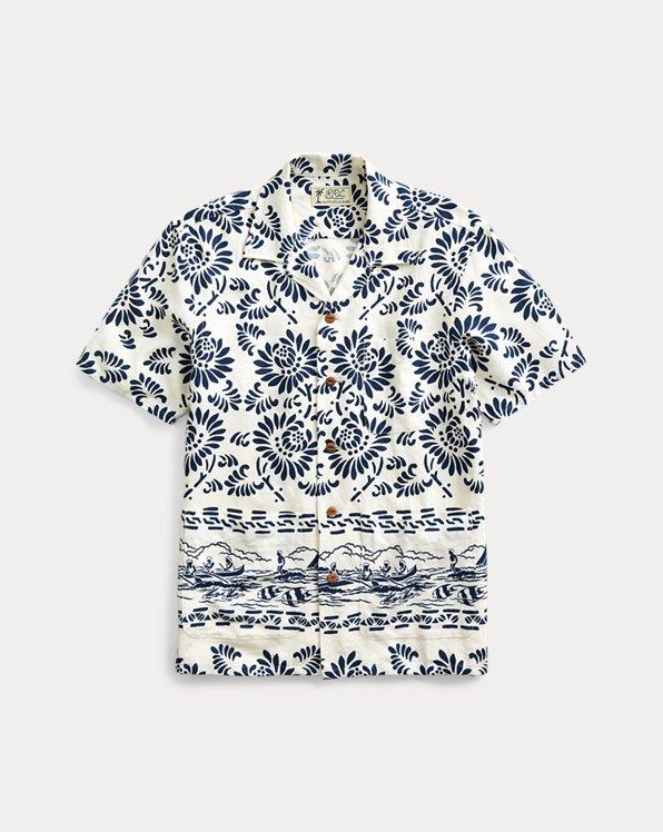 Print Linen Camp Shirt