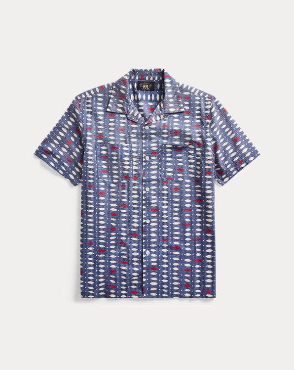 Fish-Print Seersucker Shirt