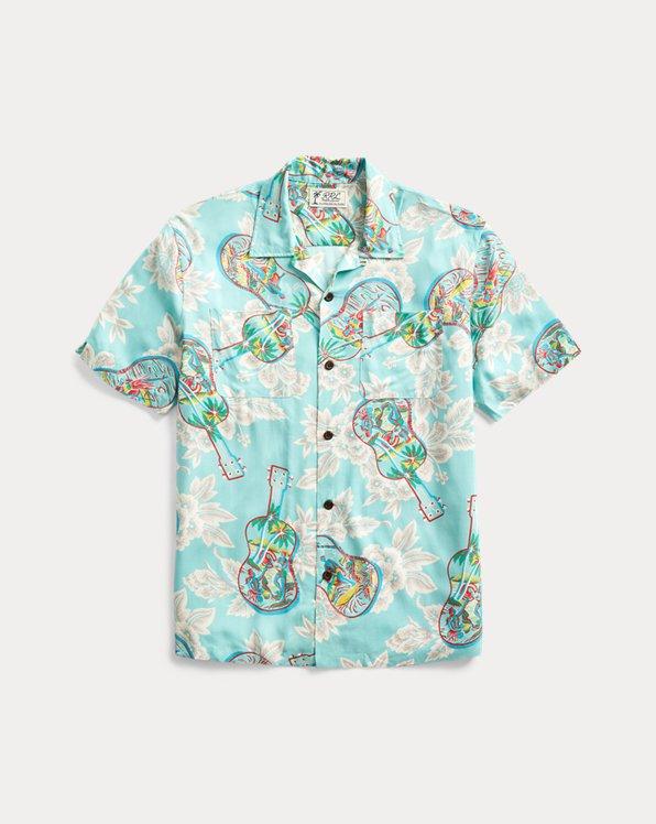 Tropical-Print Camp Shirt