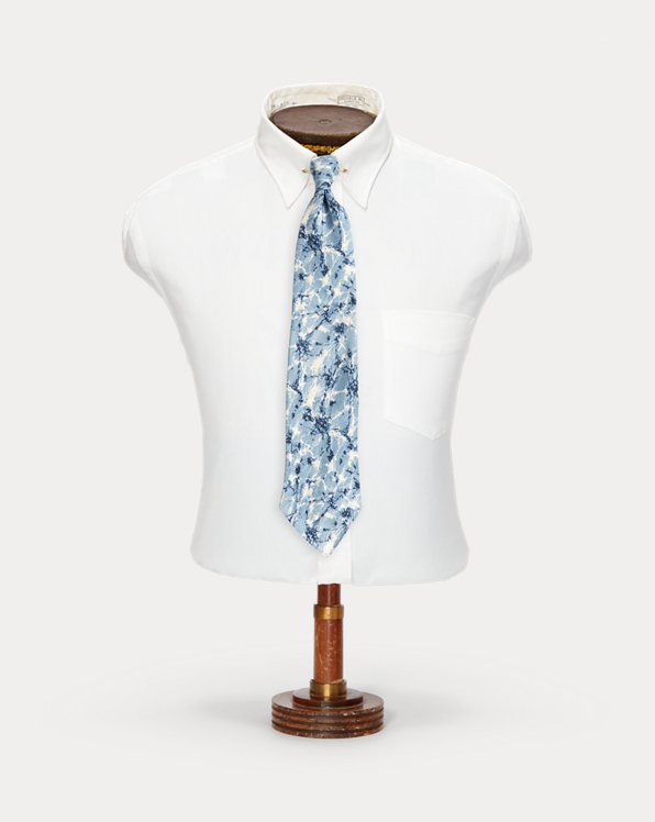 Cravatta jacquard seta fatta a mano