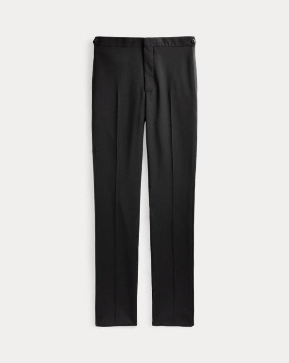 Slim-Fit Smokinghose aus Wolle