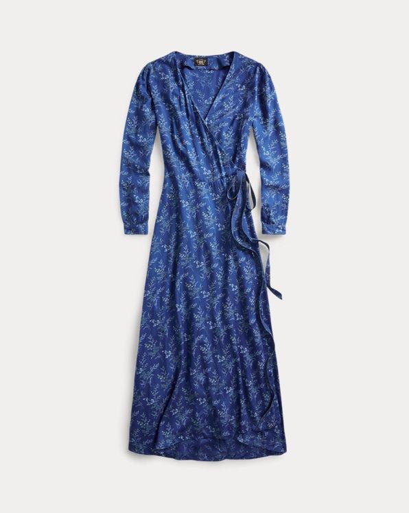 Floral Indigo Wrap Dress