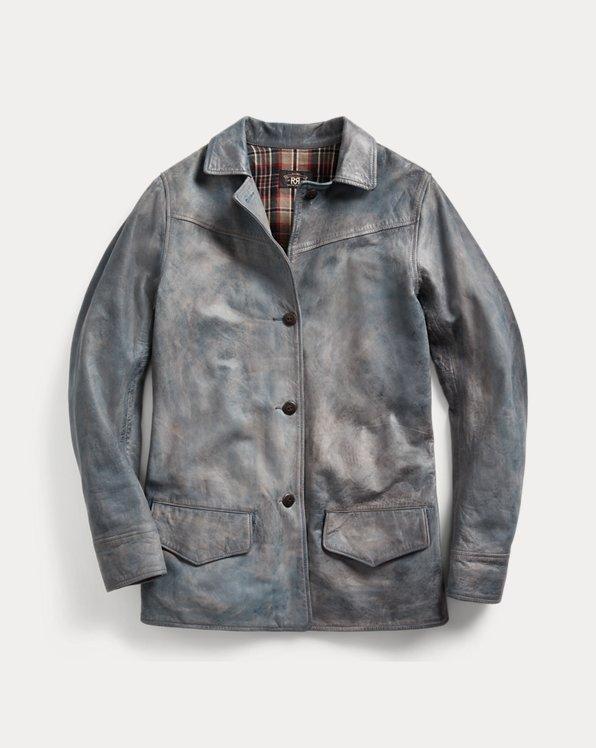 Indigo Leather Jacket
