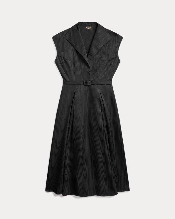 Silk-Blend Moiré Dress