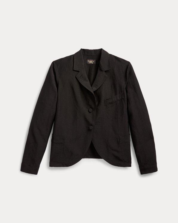 Linen-Wool Three-Button Jacket