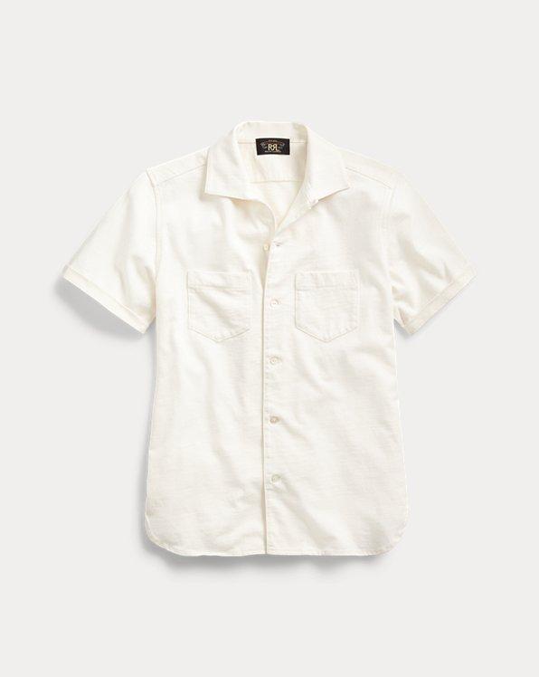 Camicia in jersey di cotone e lino