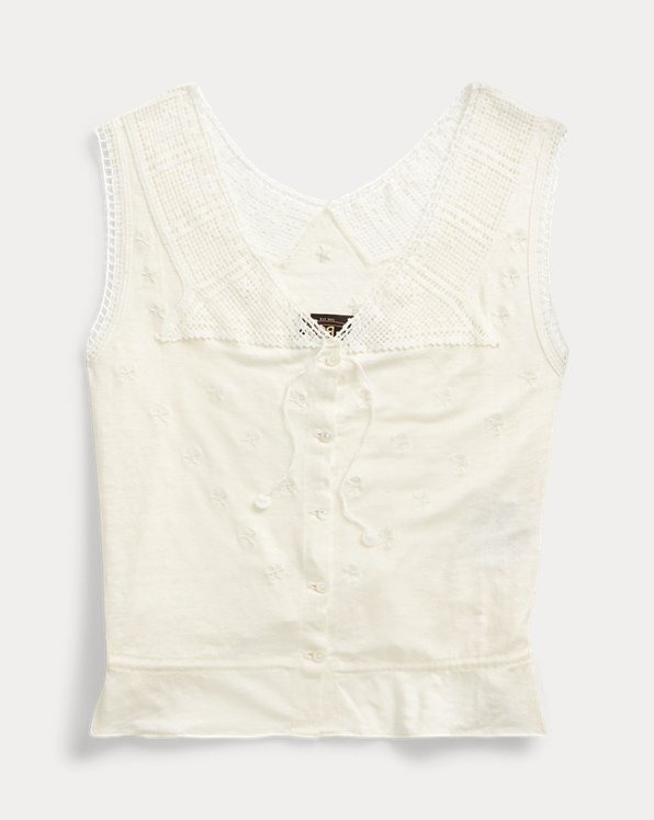 Crochet-Trimmed Camisole