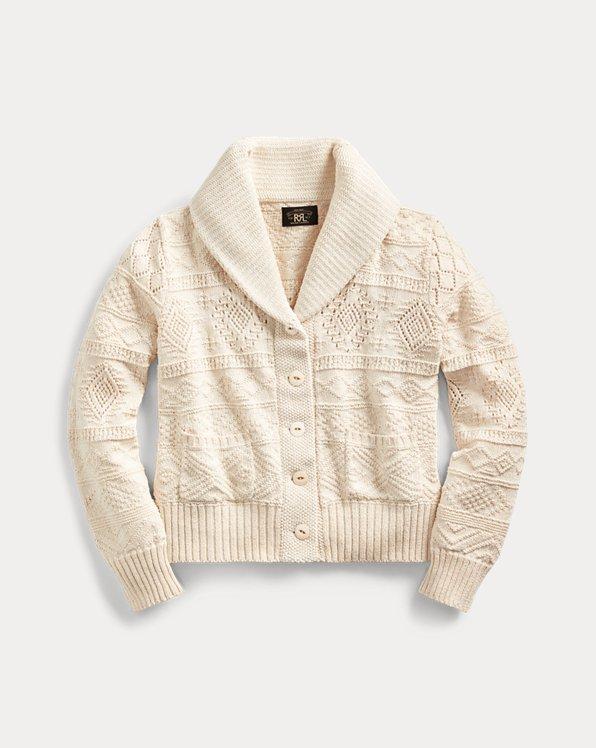 Cropped Cotton-Silk Cardigan