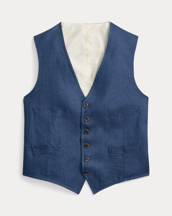 Linen Herringbone Waistcoat