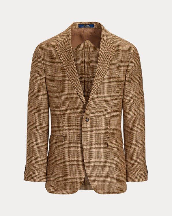 Glen Plaid Linen Sport Coat