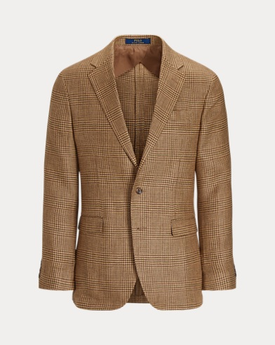 Glen Plaid Linen Sport Coat