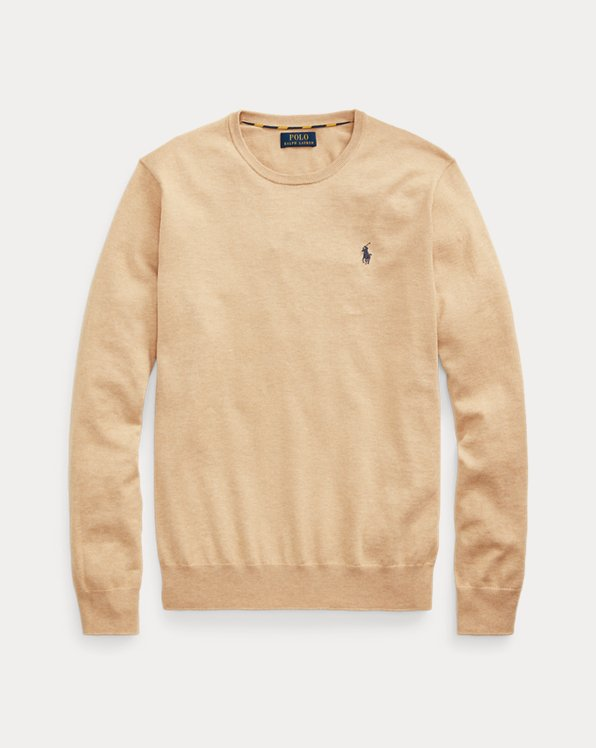 Slim Fit Cotton Crewneck Jumper