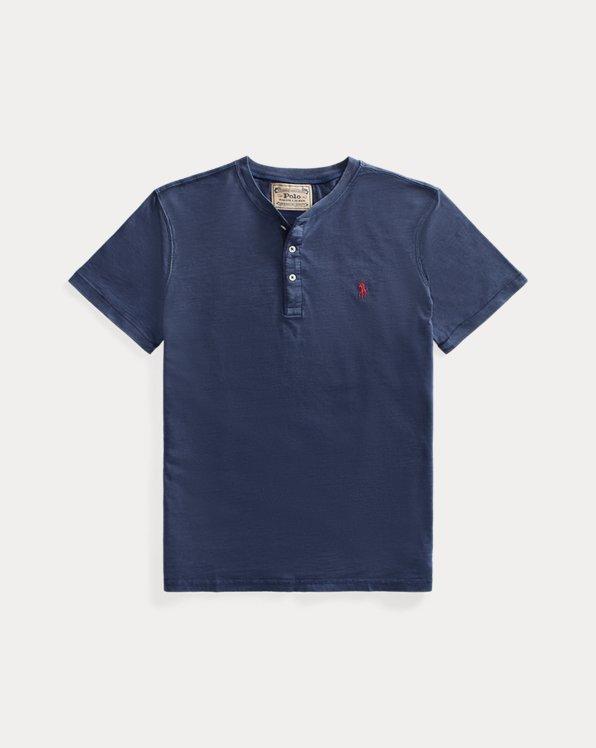 Maglietta serafino in jersey irregolare