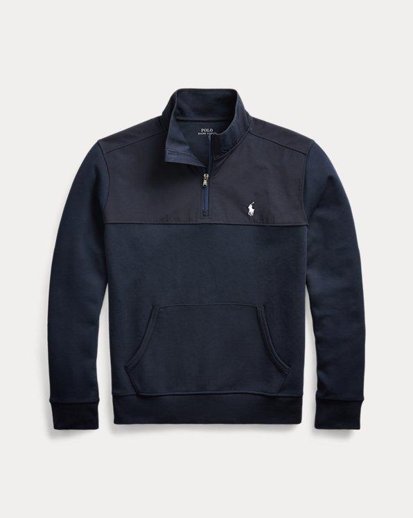 Hybrid-Pullover mit halbem Reißverschluss
