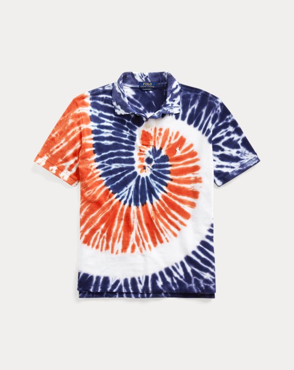 Custom Slim Fit Tie-Dye Polo