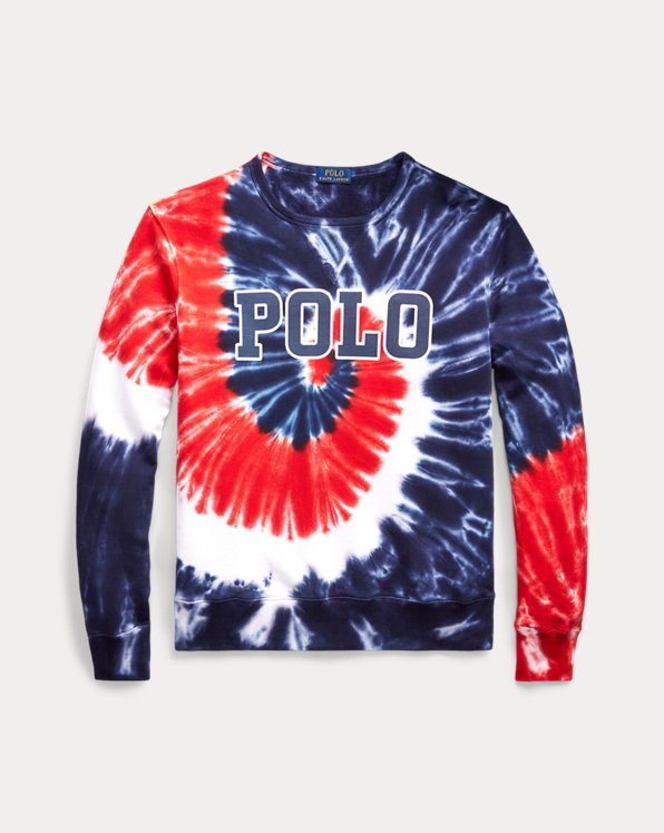 Sweat en molleton tie-dye