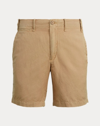 Straight Fit Linen-Blend Short