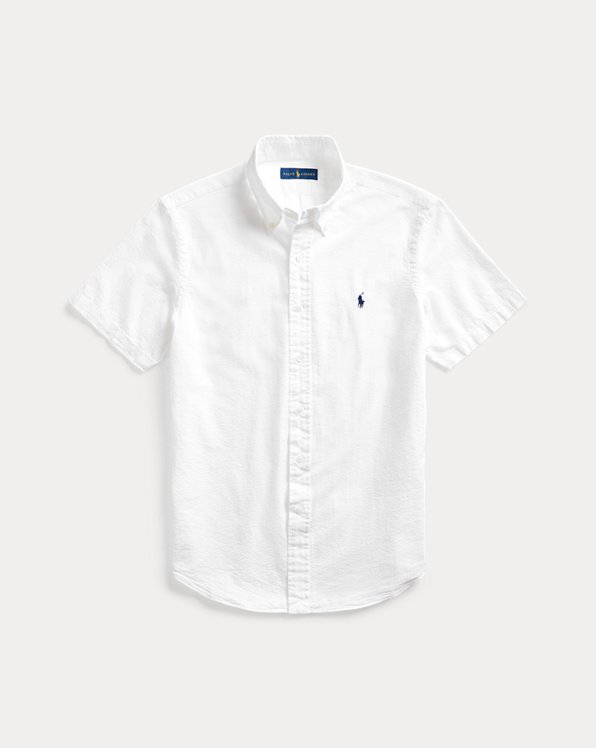 Slim Fit Seersucker Shirt