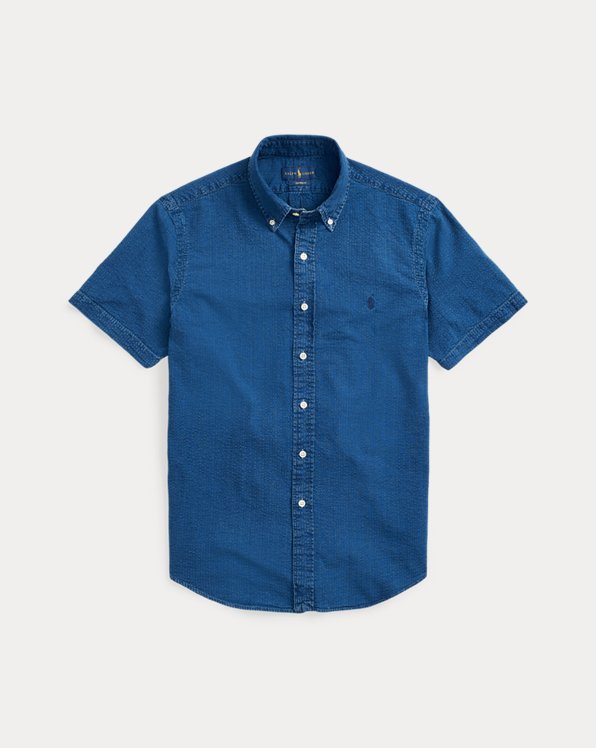 Slim-Fit-Hemd aus Seersucker