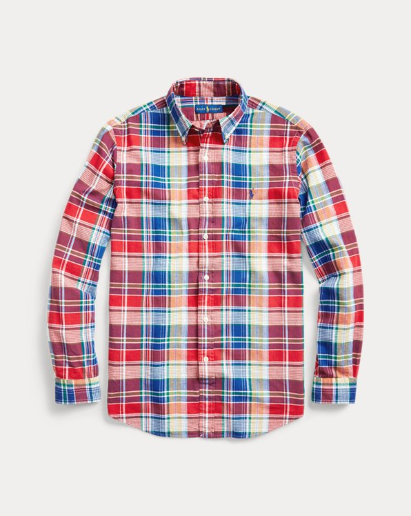 Custom Fit Madras Shirt