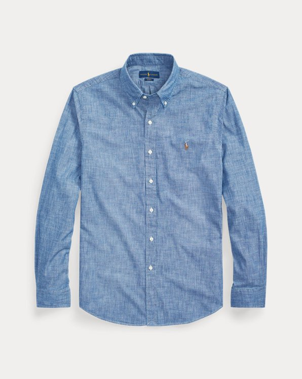 Slim Fit Indigo Chambray Shirt