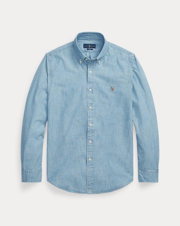 Slim Fit Indigo Chambray Shirt