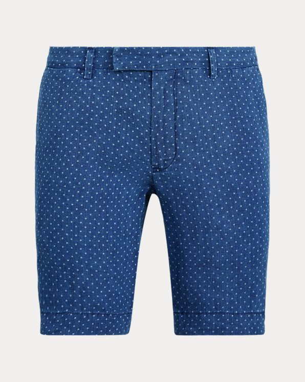 Slim Fit Star Linen Short
