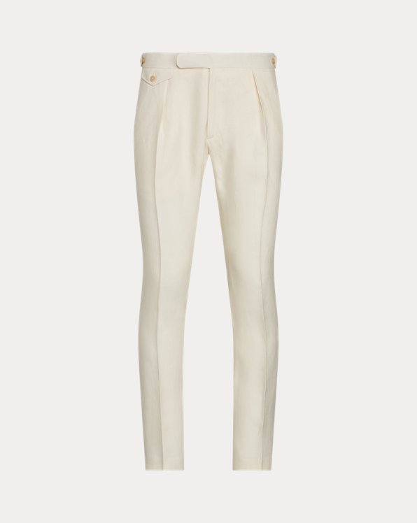Pleated Linen Suit Trouser