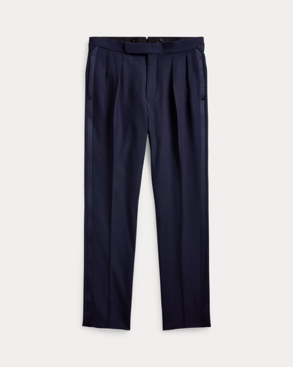 Pleated Tuxedo Trouser