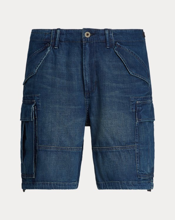 Classic Fit Denim Cargo Short