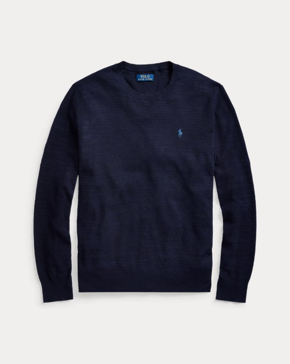 Cotton-Linen Crewneck Jumper