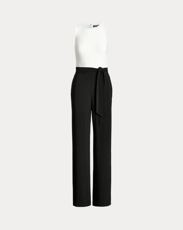 Two-Tone Jersey Jumpsuit