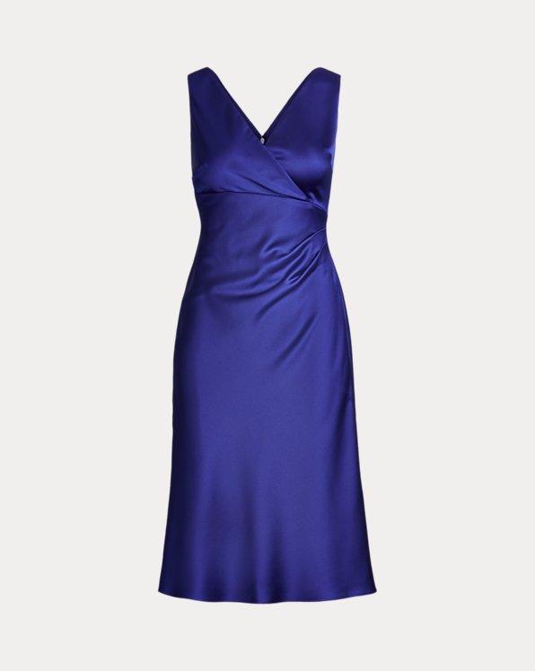 Satin Surplice Dress