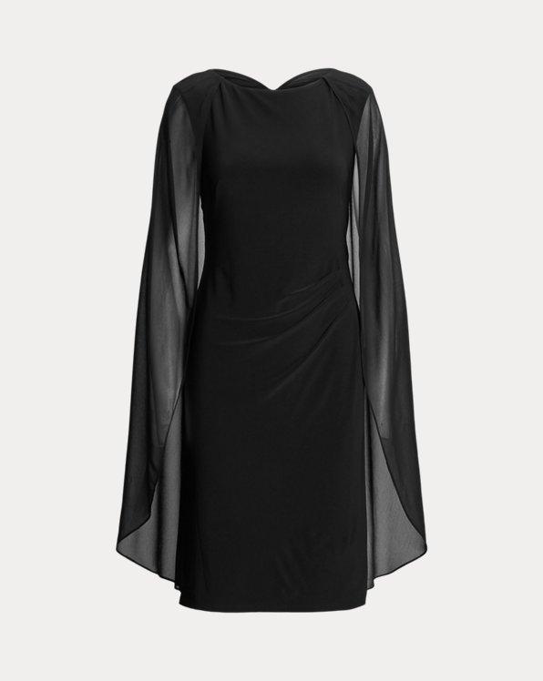 Georgette-Cape Cocktail Dress