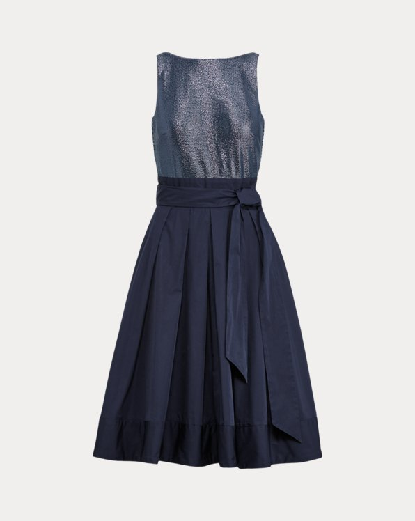 Sleeveless Taffeta Dress