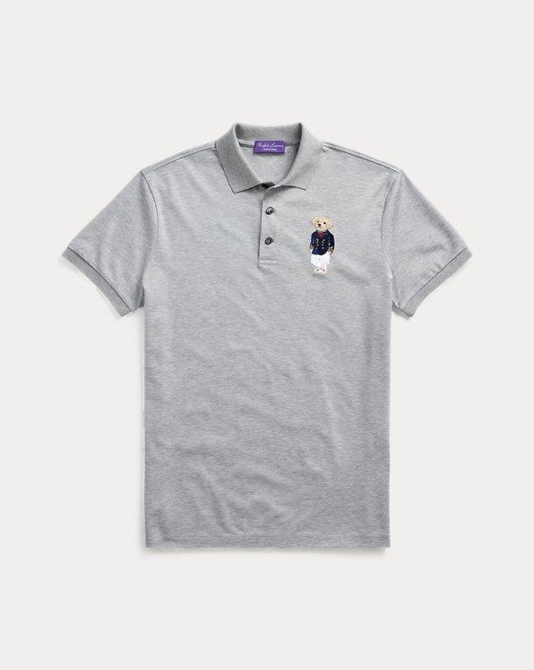 Polo im Custom-Slim-Fit mit Bear