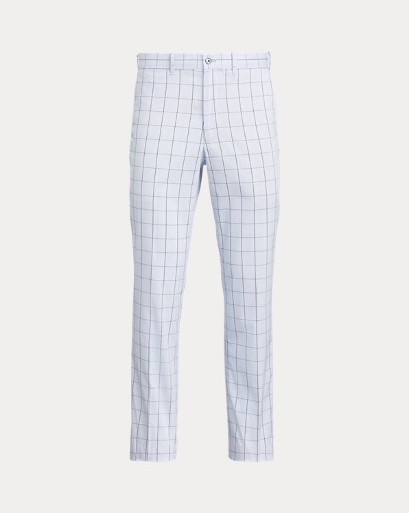 Tailored Fit Plaid Chino Pant