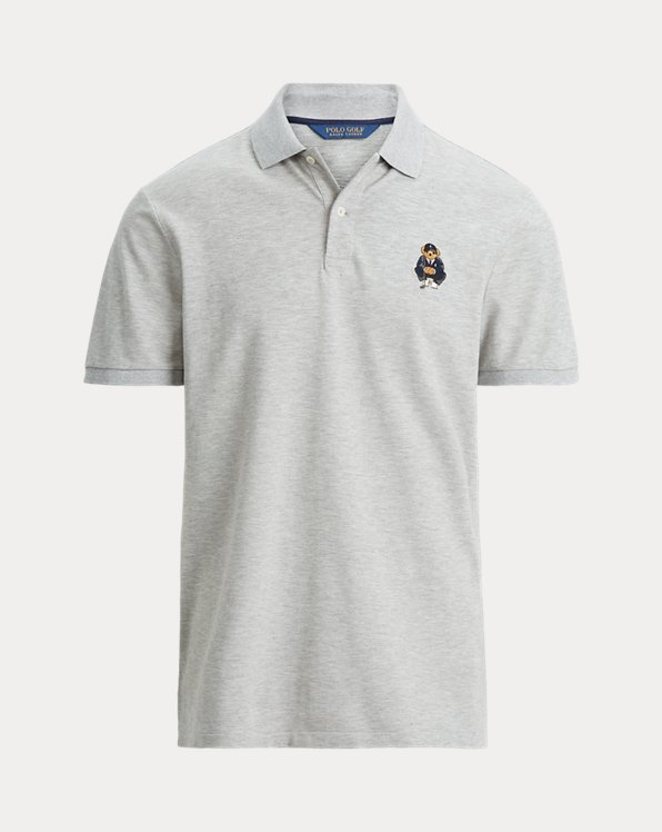Custom-Slim-Fit Polo mit Golf Bear