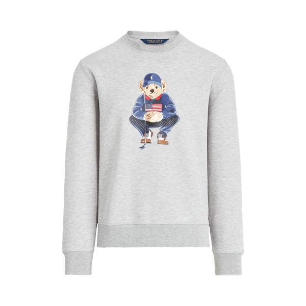 폴로 랄프로렌 남성 골프웨어 Polo Ralph Lauren Polo Bear Double Knit Sweatshirt,Light Grey Heather